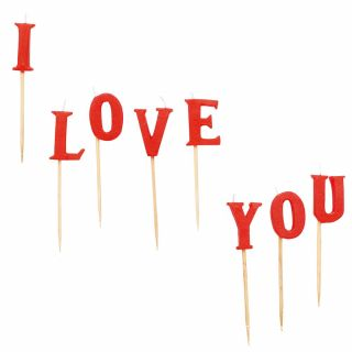 "Lumanari pentru tort ""I Love You"""