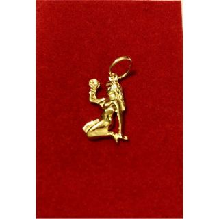 Martisor handmade placat cu aur 14K, ZODIA FECIOARA, 2 cm