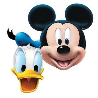 Masti copii pentru petrecere Mickey Mouse  Donald Duck, Amscan , set 4 buc