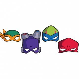 Masti copii pentru petrecere Teenage Mutant Ninja Turtles, Amscan , set 8 buc