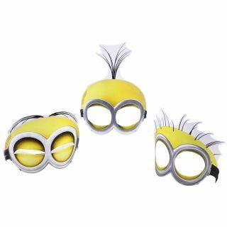 Masti de petrecere Minioni pentru copii, Amscan , Set 6 buc