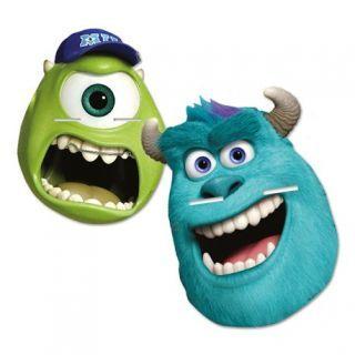 Masti de petrecere Monster University pentru copii, Amscan , set 4 buc