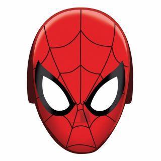 Masti Spiderman pentru copii - 20x15cm, Amscan , Set 8 buc