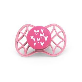 Nuvita Air.55 Cool! suzeta simetrica cu capac protector 6 luni+ - Pink Yarrow - 7085