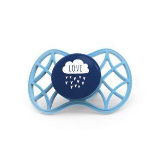 Nuvita Air.55 Cool! suzeta orthodontica cu capac protector 6 luni+ - Cobalt Blue - 7084