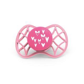 Nuvita Air.55 Cool! suzeta orthodontica cu capac protector 6 luni+ - Pink Yarrow - 7084