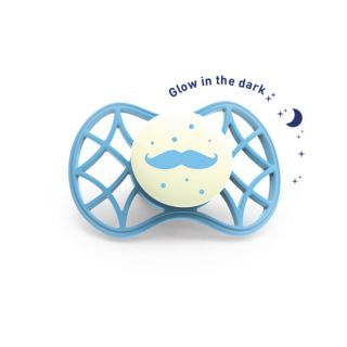 Nuvita Air.55 Cool! suzeta orthodontica de noapte cu capac protector 6 luni+ - Glow Dusk Blue - 7084