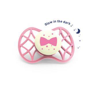 Nuvita Air.55 Cool! suzeta orthodontica de noapte cu capac protector 6 luni+ - Glow Flamingo - 7084