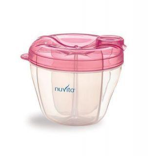 Nuvita Recipient si dozator lapte praf 4 compartimente 1461 - pink