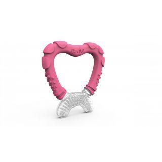 Nuvita Inel gingival cu maner - pink 7006