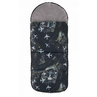 Nuvita Junior Smart sac de iarna 100cm - Black Airplanes / Gray - 9585