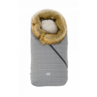 Nuvita Ovetto Pop sac de iarna cu blanita 80cm - Prince of Wales / Beige - 9236