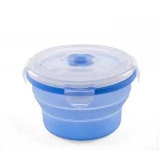 Nuvita Recipient pliabil din silicon pentru hrana 540 ml 4468 - Albastru