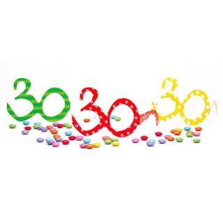 Ochelari party carton - 30 ani, Radar 50116, Set 6 buc