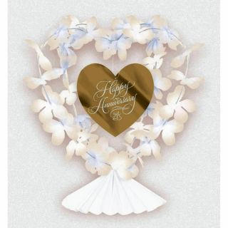 Ornament Happy Anniversary pentru decorare masa, Amscan