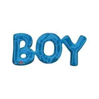 PACHET LITERE ''BOY'' - ALBASTRU, 50 X 22 CM, Amscan 33098