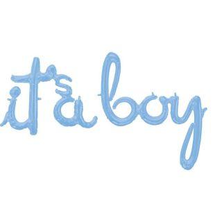 Pachet litere It's a Boy script - pastel blue, 41 cm, 39169