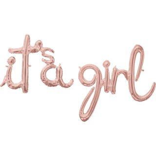 Pachet litere It's a Girl script - rose gold, 41 cm, 39163