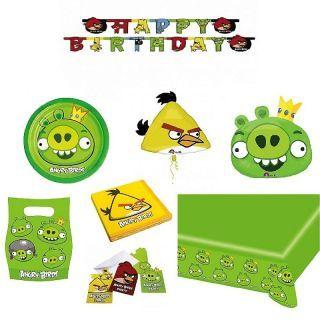 Pachet party Angry Birds King Pig, Radar Green