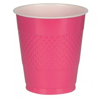 Pahare plastic Magenta 355ml pentru petrecere, Amscan 552287-61, Set 10 buc