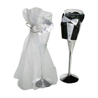 Pahare sampanie de nunta - 22 cm, Radar 719161, Set 2 buc