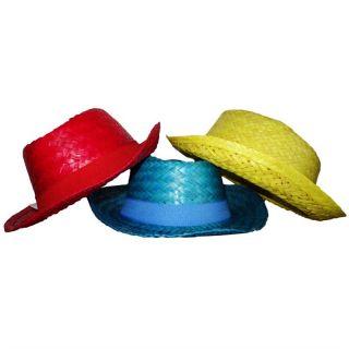 Palarie din paie pentru plaja/petrecere - diverse culori, Amscan 257683