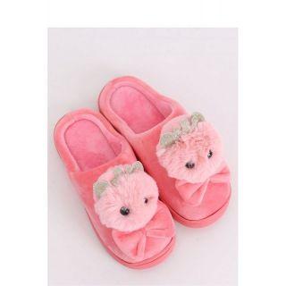 Papuci pufosi de casa forma iepuras - roz, Radar, diverse marimi