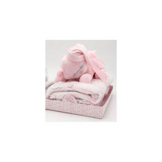 Paturica cocolino pink cu jucarie ursul 22cm., Hausmann
