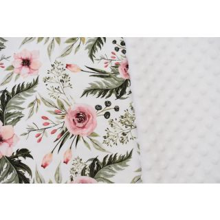 Pernuta cu buzunar pentru carti Gradina de trandafiri, alb