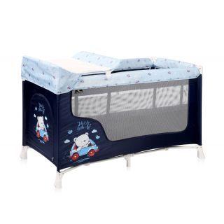 Patut pliabil SAN REMO, 2 nivele, Blue Bear