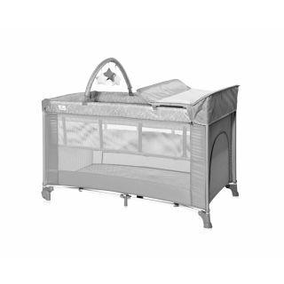 Patut pliabil Torino Plus, 2 nivele cu accesorii, Grey