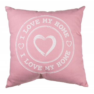 Perna decorativa I love my home - roz, 40 x 40 cm, Radar
