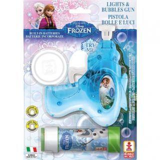Pistol baloane de sapun cu lumini si sunete Frozen, Dulcop