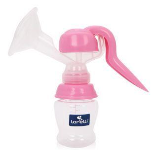 Pompa de san manuala, cu biberon 150 ml inclus, Pink