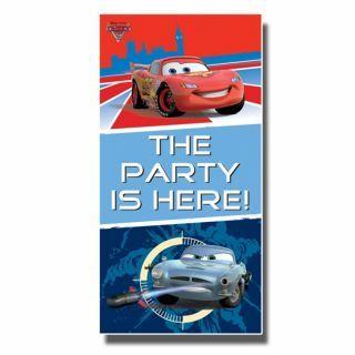 Poster decorativ pentru petrecere, Disney Cars, Amscan, 1 buc