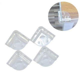 Protectie colturi mobila transparenta – Set 4 bucati (fata zambitoare)