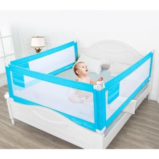 Protectie pat copii, bleu