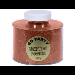 Pudra cu sclipici Rose Gold Pentru Baloane - 100 gr, Qualatex