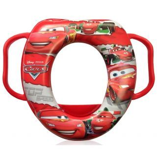 Reductor moale toaleta, cu manere, Cars Red