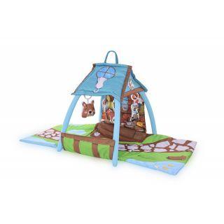 Saltea de activitate tip casuta, Little House, 113x56x53 cm, multicolor