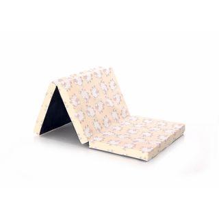 Saltea pliabila de voiaj, 60x120x5 cm, spuma elastica, Imprimeuri Colorate