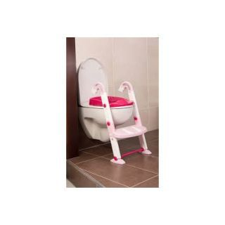 Scara cu reductor WC si olita White Tender rose Kidskit Rotho-babydesign