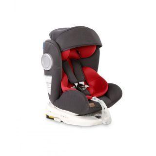Scaun auto LUSSO SPS Isofix, Black & Red