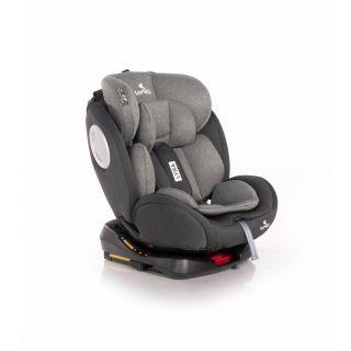 Scaun auto, Lyra, Isofix, rotativ 360 grade, 0-36 kg, Black & Grey