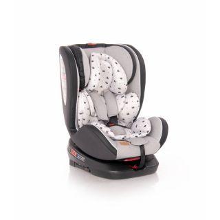Scaun auto Nebula, Isofix, rotativ 360 grade, Grey Crowns