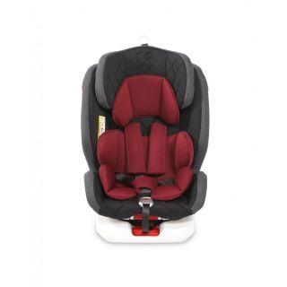 Scaun auto ROTO Isofix, black & red