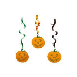 Serpentine folie cu dovleci Halloween - 90 cm, Radar, set 3 bucati