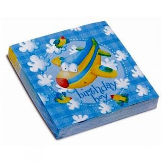 Servetele de masa pentru petrecere copii - Birthday Boy, 33 cm, Amscan 551534, Set 20 buc