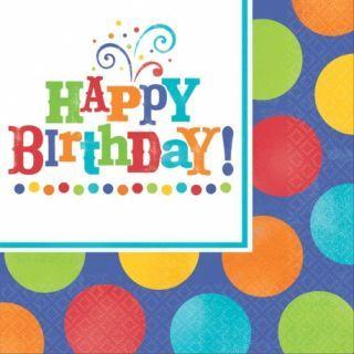Servetele de masa pentru petrecere - Happy Birthday, 33 cm, Amscan