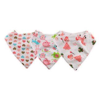 Set 3 bavete tip bandana, bumbac, Imprimeuri Colorate